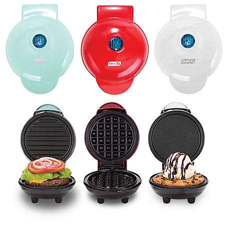 Dash Mini Maker Griddle, Waffle Maker and Grill Set (Assorted Colors)