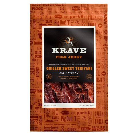 Krave Grilled Sweet Teriyaki Pork Jerky (16 oz.)