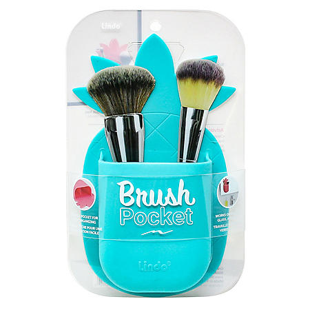 Lindo Silicone Brush Pocket Non-adhesive, Non-permanent Sticky Makeup Brush Caddy