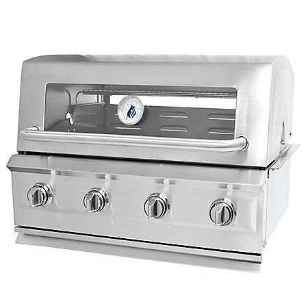 3 Embers Drop-In 4 Burner Dual Fuel Grill