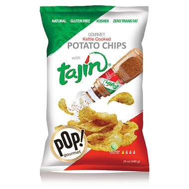 Tajin Kettle Cooked Potato Chips (24 oz.)