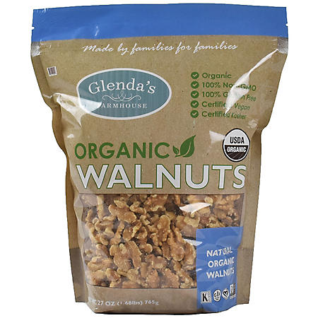 Glenda's Farmhouse Organic Walnuts (27 oz.)