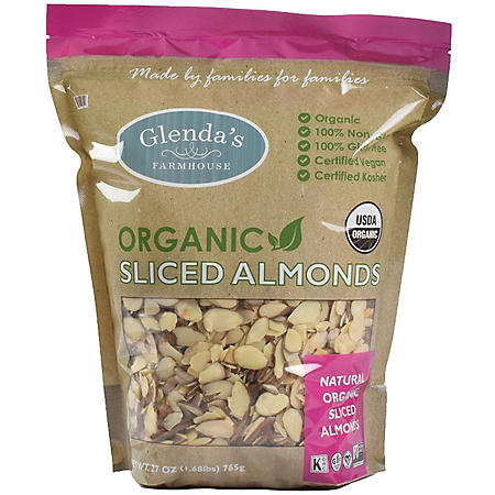 Glenda's Farmhouse Organic Sliced Almonds (27 oz.)