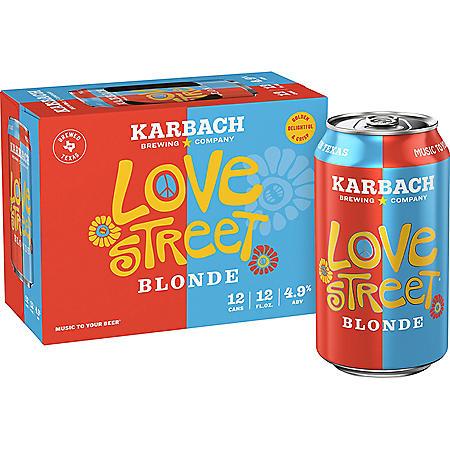Karbach Love Street Kolsch Style Blonde (12 fl. oz. can, 12 pk.)