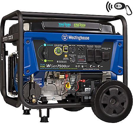 Westinghouse 7,500/9,500-Watt Dual-Fuel Portable Generator