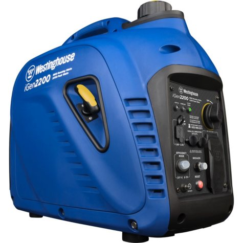 Westinghouse iGen2200 1,800/2,200-Watt Super Quiet Gas Powered Inverter Generator with Parallel Capability