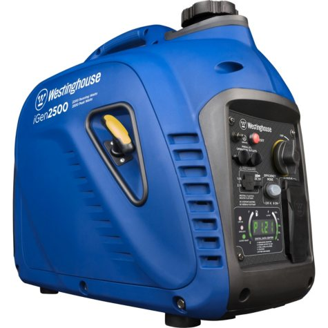 Westinghouse iGen2500 2,200/2,500-Watt Super Quiet Gas Powered Inverter Generator with LED Display & Parallel Capability