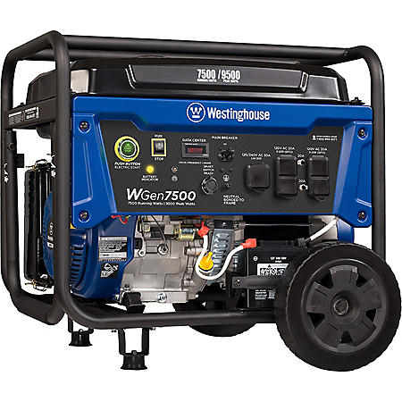 Westinghouse 7,500/9,500-Watt Gasoline-Powered Portable Generator (CARB Compliant)