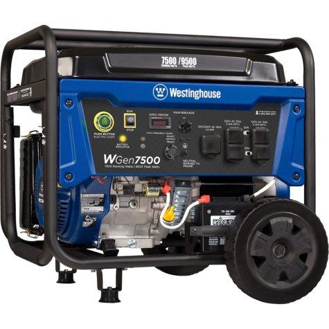 Westinghouse 7,500/9,500-Watt Gasoline-Powered Portable Generator