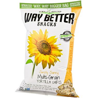 Way Better Snacks Simply Sunny MultiGrain Tortilla Chips (18 oz.)