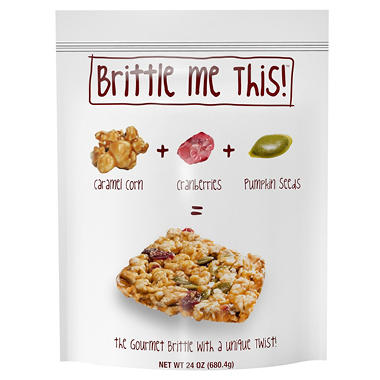 Brittle Me This, Caramel Corn+Cranberries+Pumpkin Seeds (20 oz.)