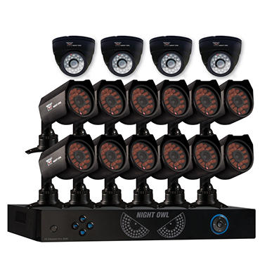 Night Owl 16 Channel Security System with 1TB Hard Drive, 12 ...