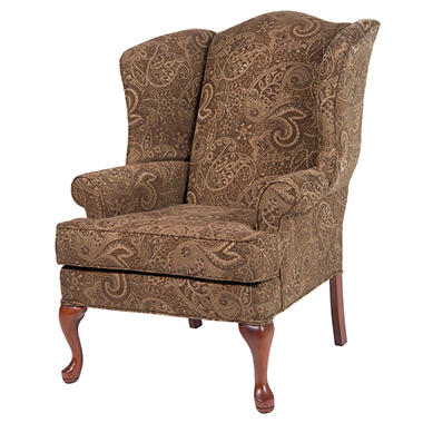 Preston Mocha Wingback Chair