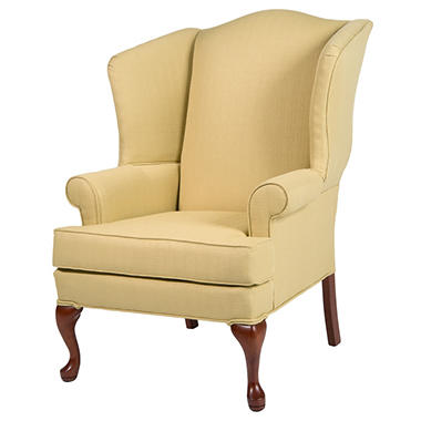 Superieur Ellis Butter Yellow Wingback Chair