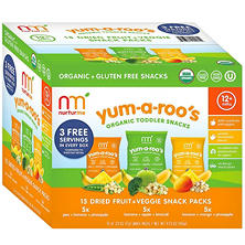 NurturMe Yum-A-Roo's Organic Toddler Snacks (0.25 oz.,15 ct.)