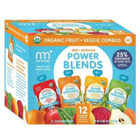 NurturMe Power Blends Fruit and Veggie Combos (3.5 oz., 12 ct.)