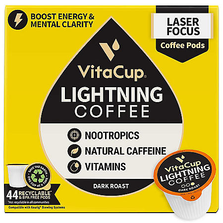 VitaCup Lightning Blend Coffee Pods (44 ct.)