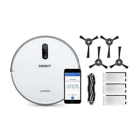 Ecovacs DEEBOT 710 Robot Vacuum Cleaner + Accessory Pack Bundle