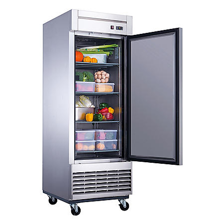 Dukers 17.7 cu. ft. Single Door Commercial Refrigerator in Stainless Steel