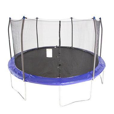 Skywalker Trampolines 15' Round Trampoline and Enclosure - Blue