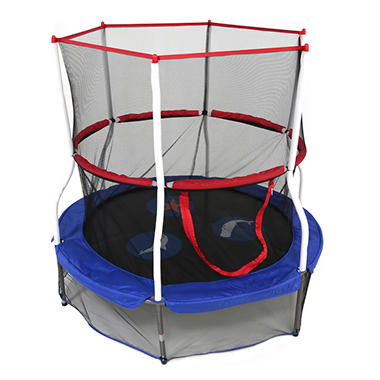 mini trampoline with enclosure skywalker trampolines 60 quot seaside adventure bouncer and 7517