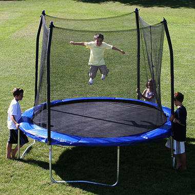 Skywalker Trampolines 10' Round Trampoline and Enclosure - Blue
