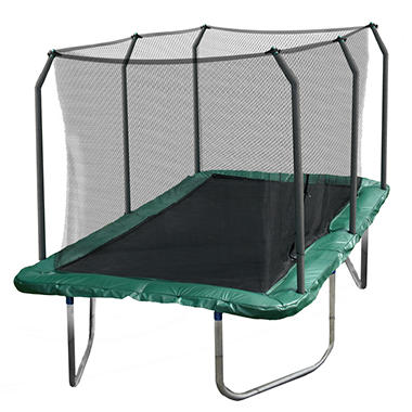 Skywalker Trampolines 14' Rectangle Trampoline and Enclosure - Green