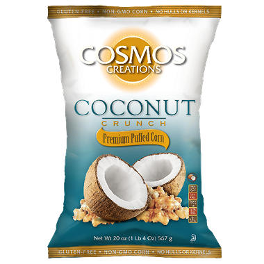 Cosmos Creations Coconut Crunch Premium Puffed Corn (20 oz.)