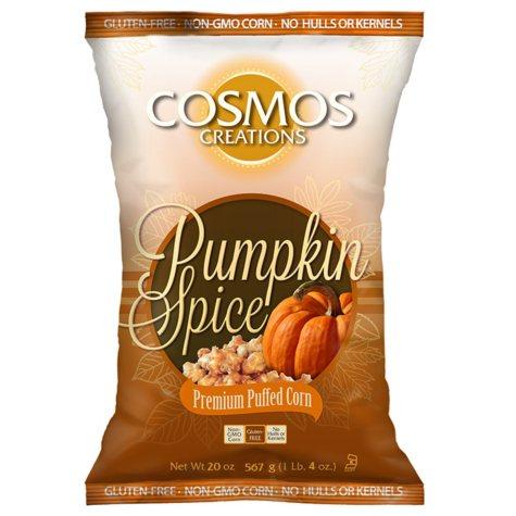 Cosmos Creations Pumpkin Spice Premium Puffed Corn (20 oz.)