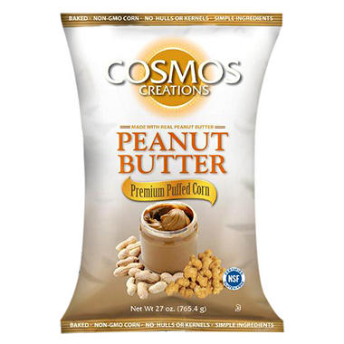 Cosmos Creations Peanut Butter Premium Puffed Corn (27 oz.)