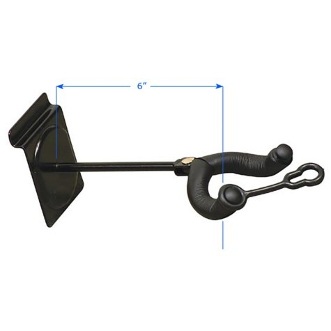 """diamondLife 6"""" Guitar Hanger MX for Slatwall"""