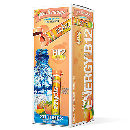 Zipfizz Energy Drink Mix, Peach Mango (20 ct.)