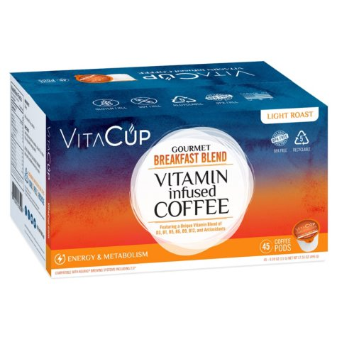 VitaCup Gourmet Breakfast Blend Coffee Pods (45 ct.)
