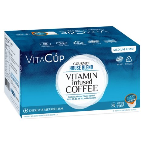 VitaCup Gourmet House Blend Coffee Pods (45 ct.)