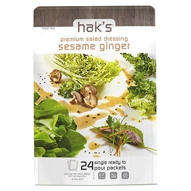 Hak's Premium Dressing, Sesame Ginger (1 oz., 24 ct.)