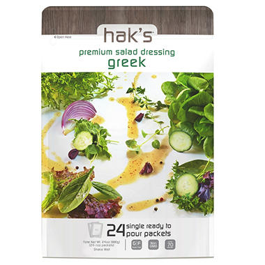 Hak's Premium Dressing, Greek (1 oz., 24 ct.)