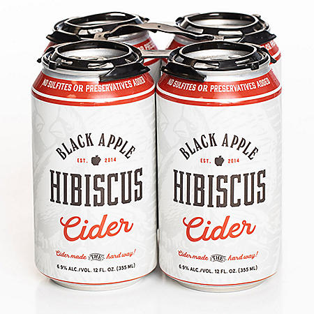 Black Apple Hibiscus Cider (12 fl. oz. can, 4 pk.)