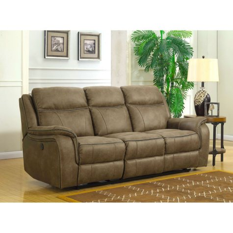 Ronald Dual Power Reclining Sofa with Dual Power Adjustable Headrests