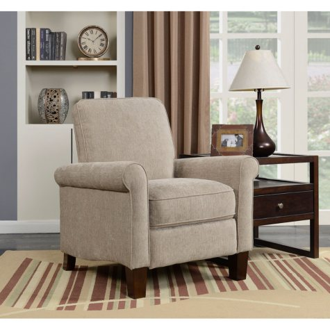 Allison Chenille Press-Back Recliner (Assorted Colors)