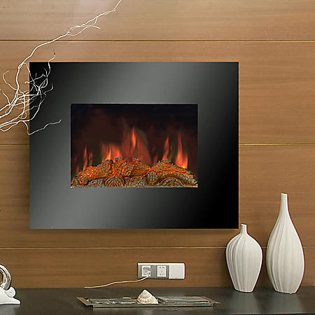 LifeSmart Wall Mount Infrared Heater with Simulated Log Set