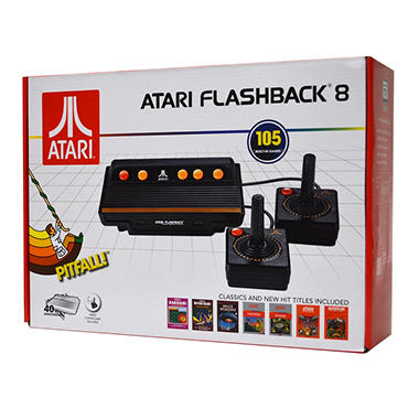 Atari Flashback 8 Deluxe with 105 Built-in Games, 2 Wired Controllers and 2 Wired Paddles