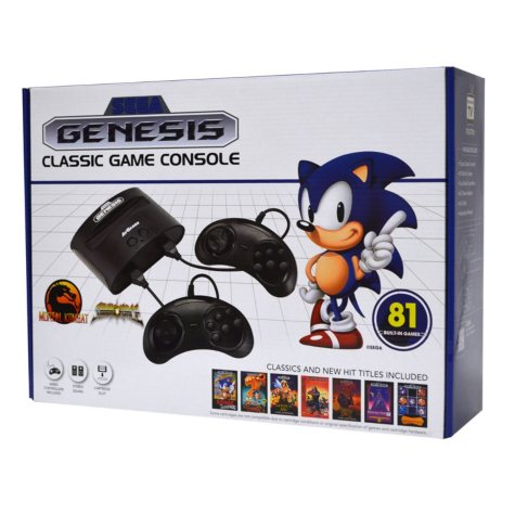 Sega Genesis Classic Console with 81 Built-in Games