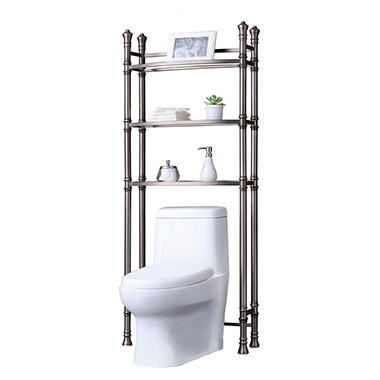 Best Living Monaco Bath Etagere (Brushed Titanium)