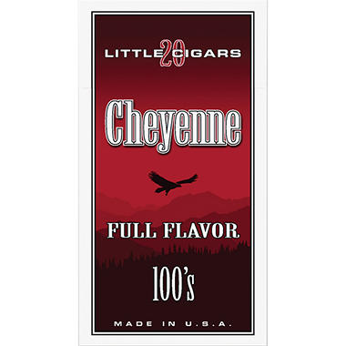 Cheyenne Little Cigars 100's, Full Flavor (20 ct., 10 pk.)