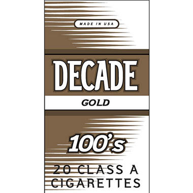 Decade Gold 100  1 Carton