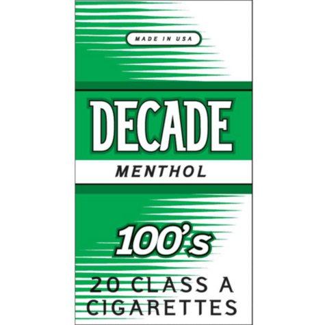Decade Menthol 100s  1 Carton