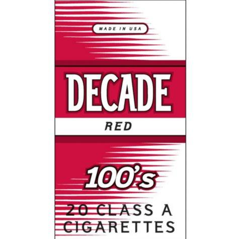 Decade Red 100s Box (20 ct., 10 pk.)