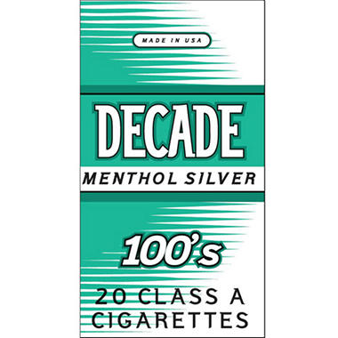 Decade Silver Menthol 100s Box (20 ct., 10 pk.)
