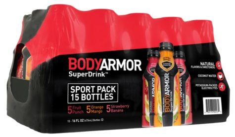 OFFLINE-BODYARMOR Sports Drinks Variety Pack (16 oz., 15 ct.)