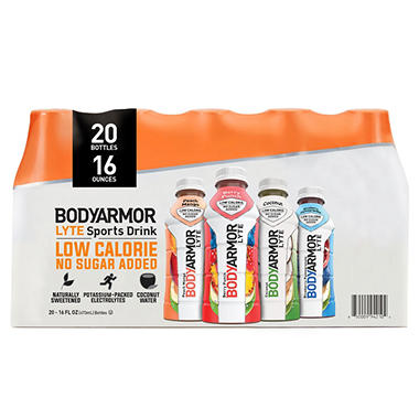 Bodyarmor Lyte Sports Drink Variety Pack 16 Oz 20 Pk Sams Club